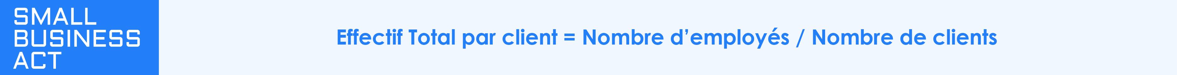 Calcul de l'effectif total par client