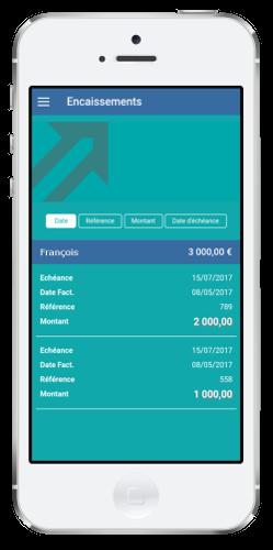 expert comptable en ligne startup - tableau de bord encaissements