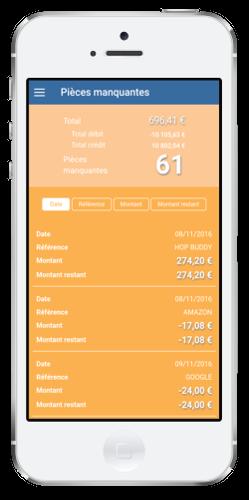 application expert comptable en ligne startup pièces manquantes