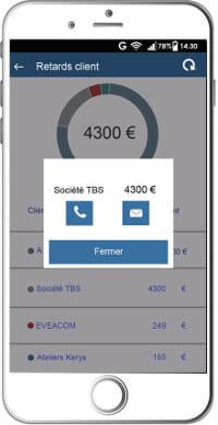 Relance créance client - Application SBA Compta