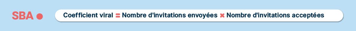 Calcul de coefficient viral = Nombre d'invitations envoyées × le nombre d'invitations acceptées