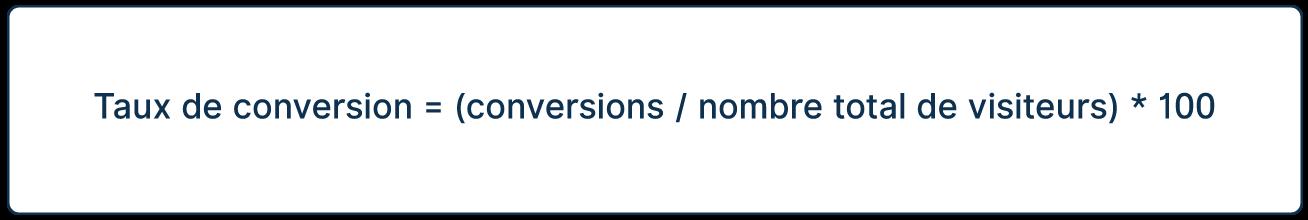 calcul taux conversion