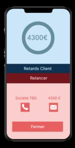 Relance des créances clients Application Sba Compta